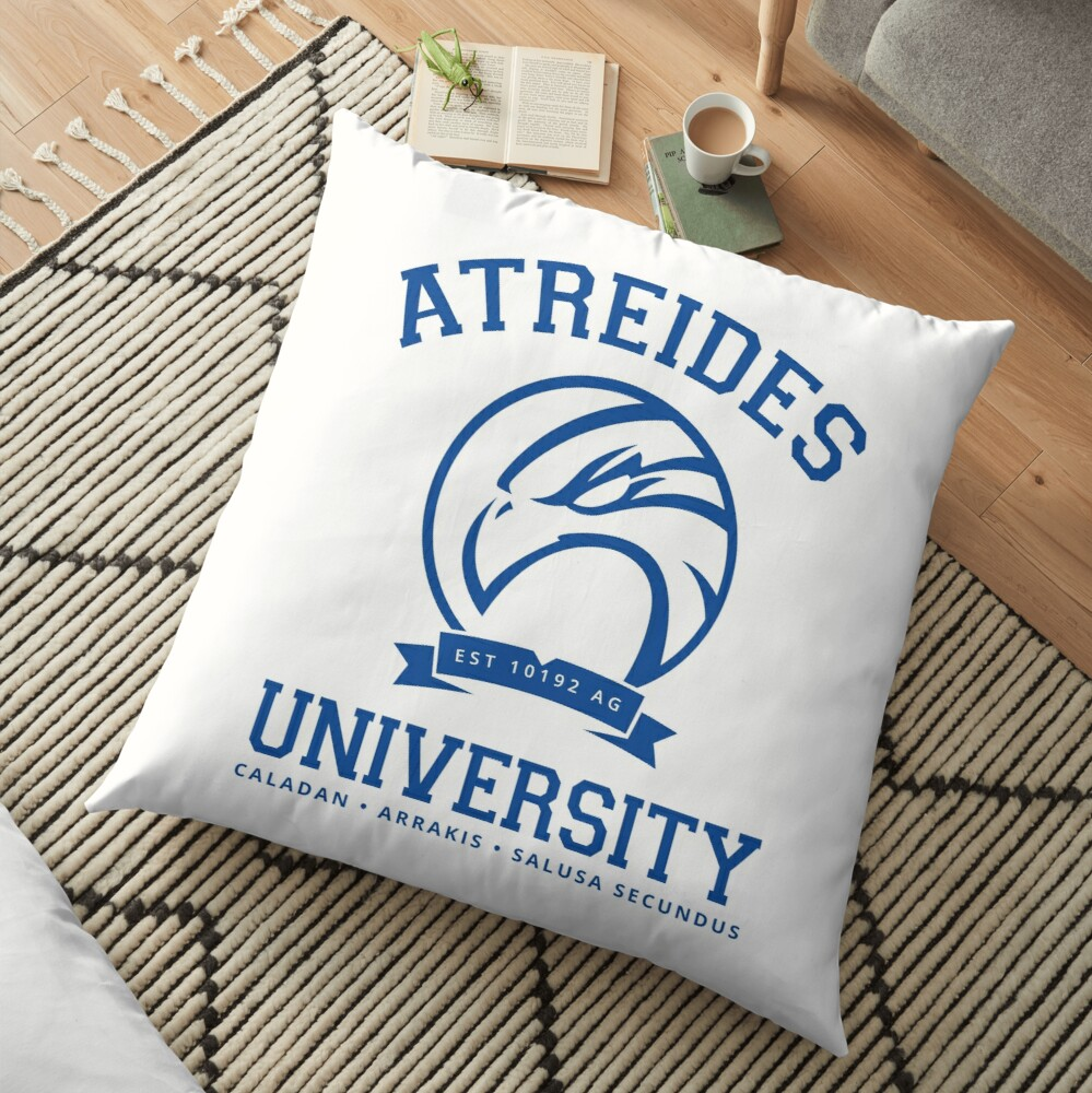 Atreides University | Blue Floor Pillow