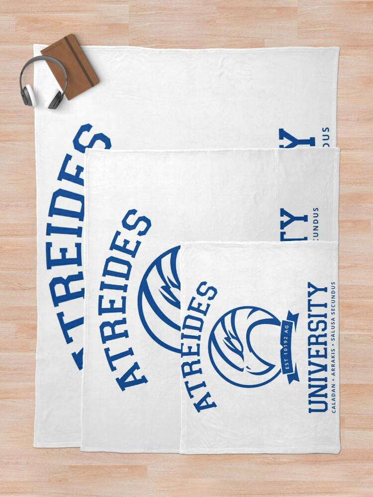 Alternate view of Atreides University | Blue Throw Blanket