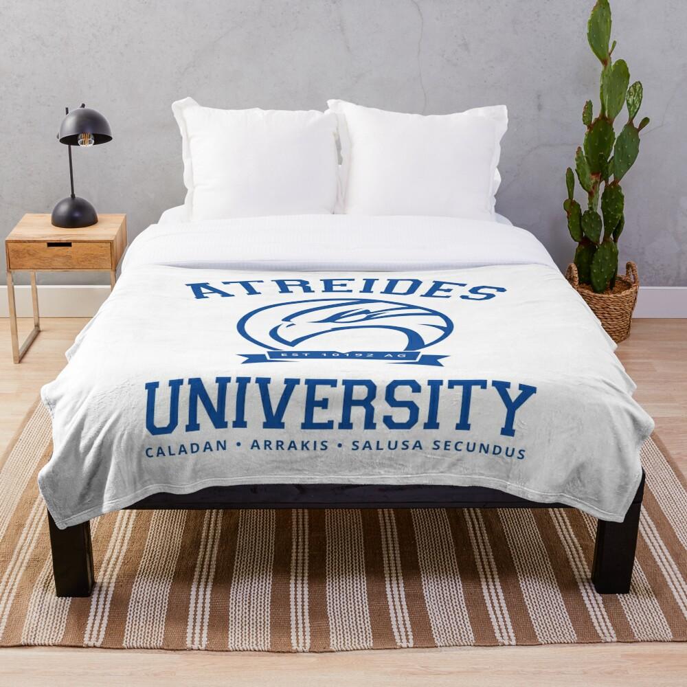Atreides University | Blue Throw Blanket