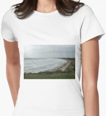 Long beach stormy. Women's Fitted T-Shirt