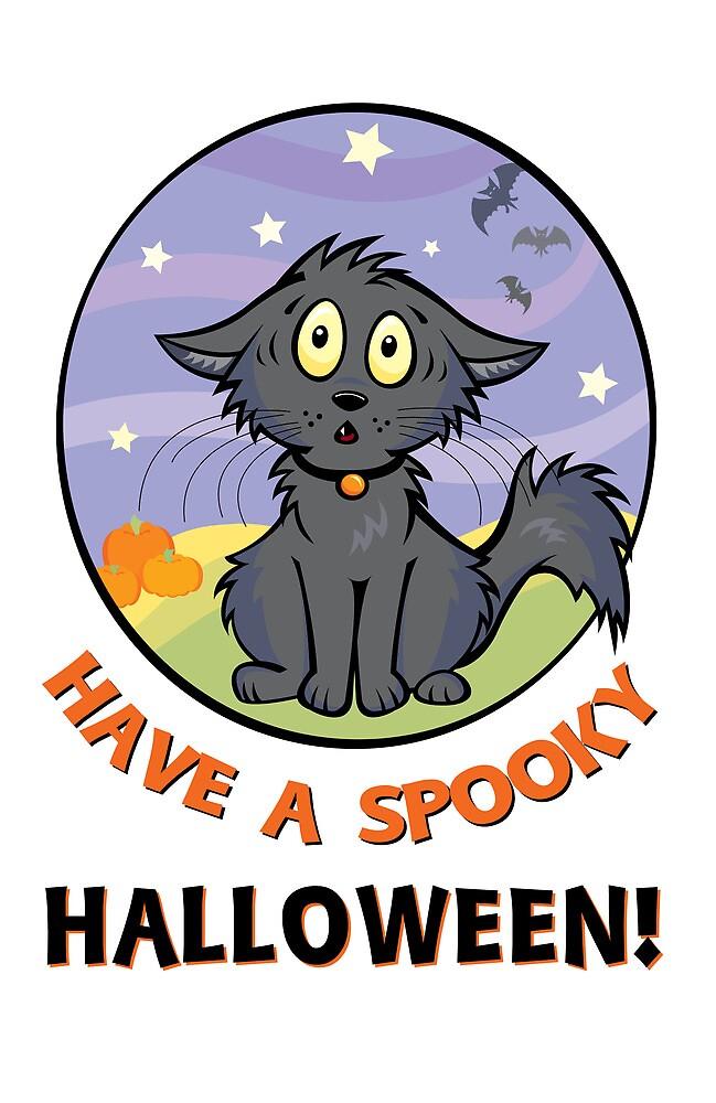 Scaredy Cat - A Spooky Halloween Card by CGafford