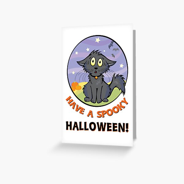 Scaredy Cat - A Spooky Halloween Card Greeting Card