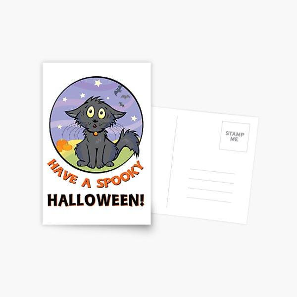 Scaredy Cat - A Spooky Halloween Card Postcard