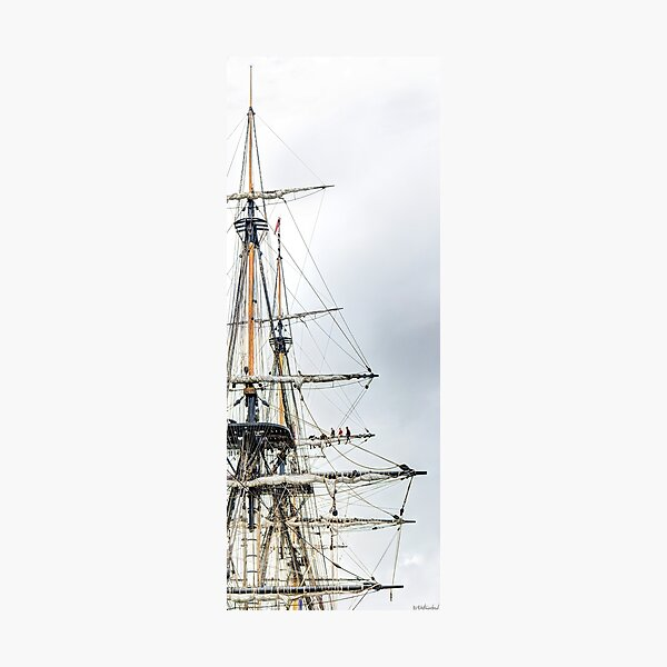 Hermione Frigate Rigging Panorama Photographic Print