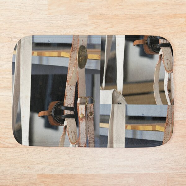 Old Leather Belt Bath Mat