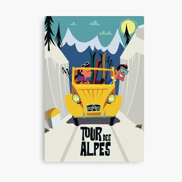 Tour des Alpes poster Canvas Print