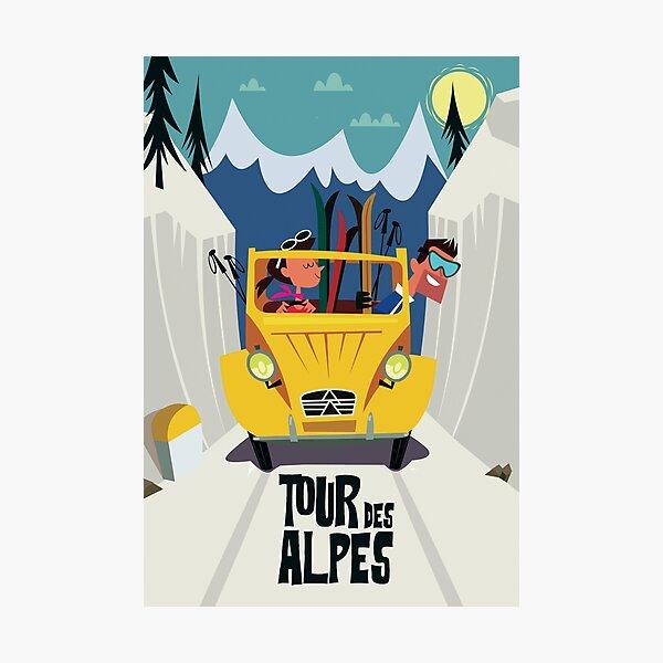 Tour des Alpes poster Photographic Print