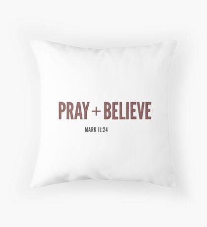Pray + Believe - Mark 11:24 Floor Pillow