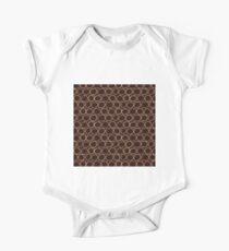 Brown Sketch Circle One Piece - Short Sleeve
