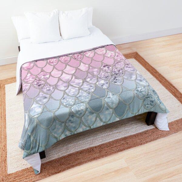 Mermaid Glitter Scales #2 (Faux Glitter) #shiny #decor #art Comforter