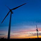 Windmill Sunset - Harthill by Jon Bradbury