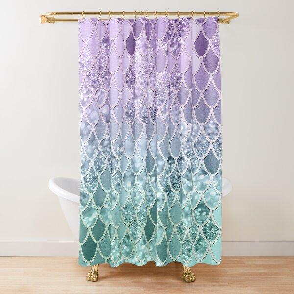 Mermaid Glitter Scales #1 (Faux Glitter) #shiny #decor #art Shower Curtain