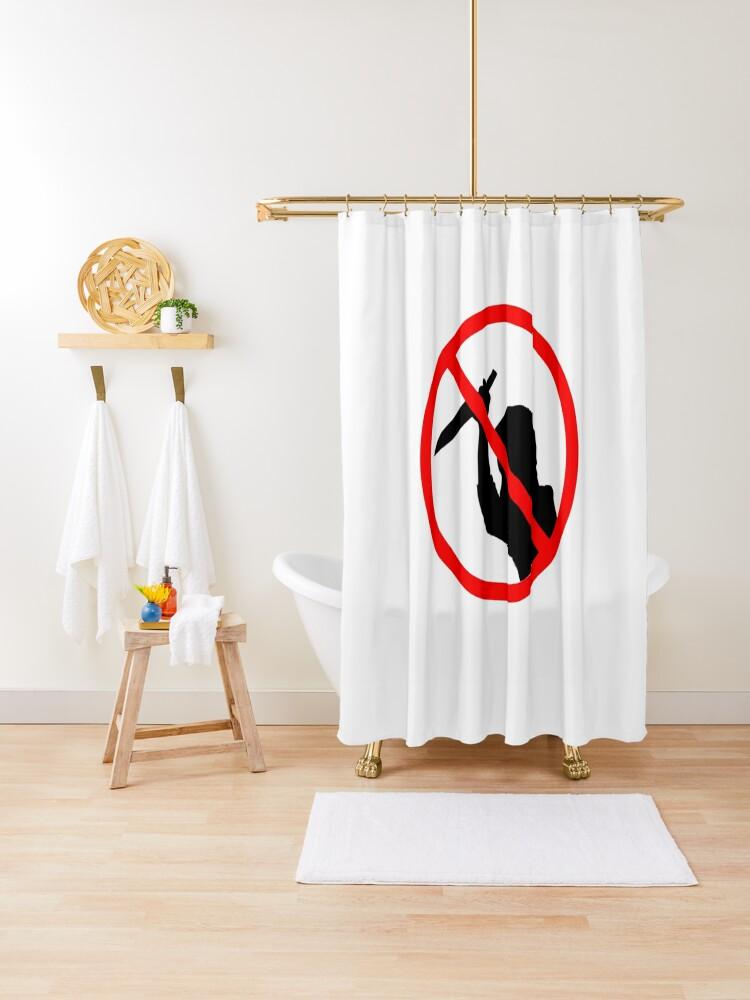 Psycho Stalker Shower Curtain One Size