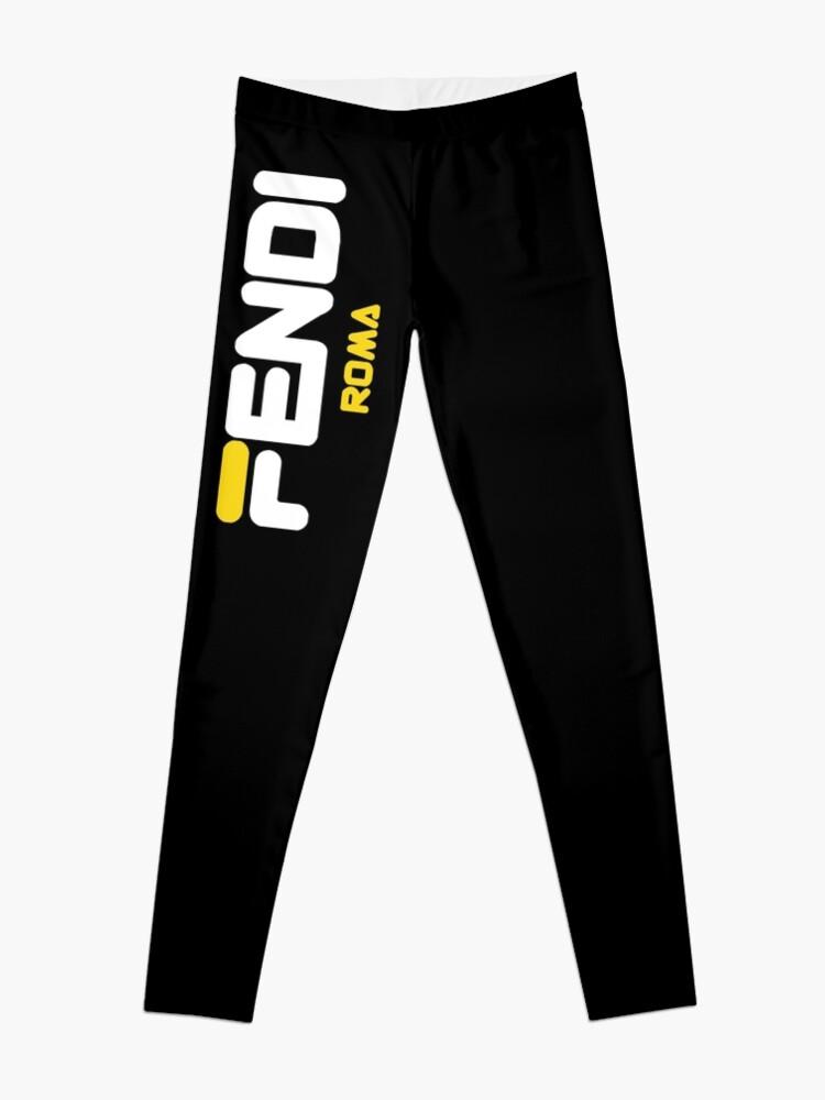 Alternate view of Fendi Roma Yellow Logo Leggings