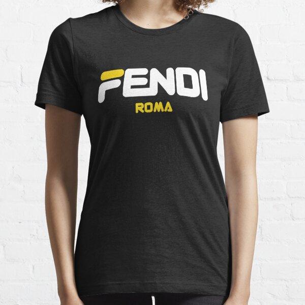 Fendi Roma Yellow Logo Camiseta esencial