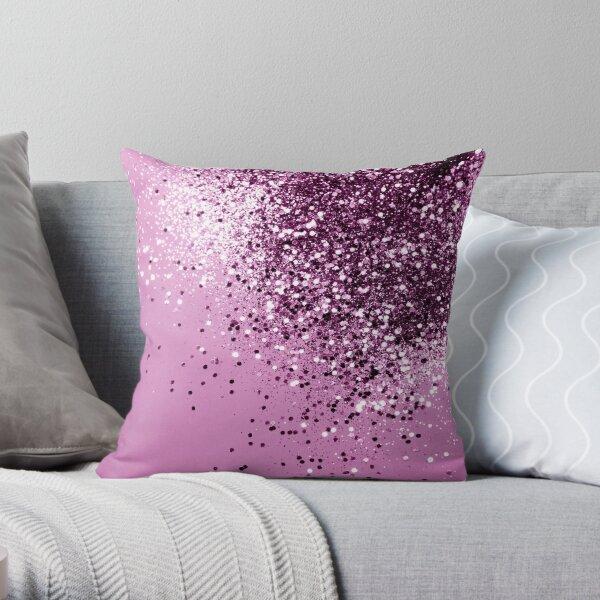 Sparkling Pink Lady Glitter #1 (Faux Glitter) #shiny #decor #art  Throw Pillow