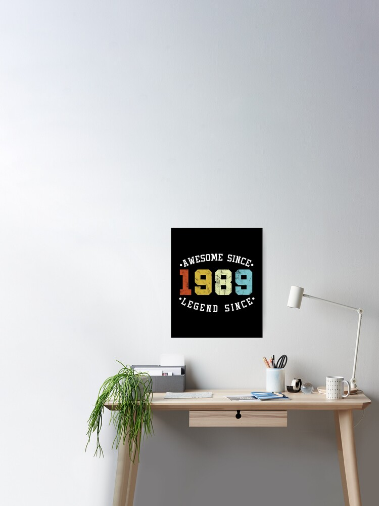 30th Birthday Tote Bag Made In 1989 30 Years Of Awesome Retro Gift Idea