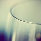 Rim - Abstract Blue and White Wine Glass by ameliakayphotog