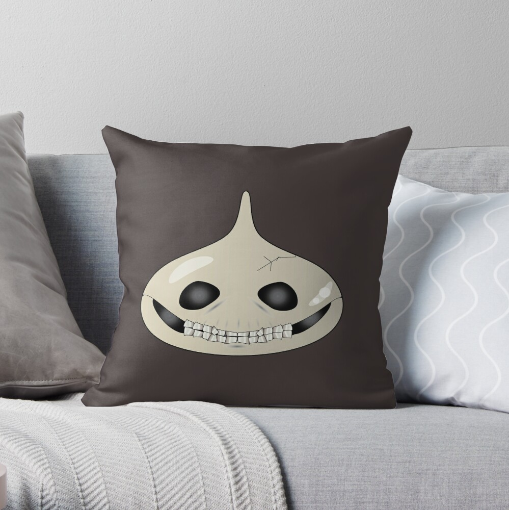 Halloween Approaches Skully Slime Throw Pillow