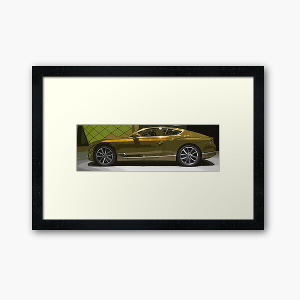 Bentley Continental GT Framed Art Print