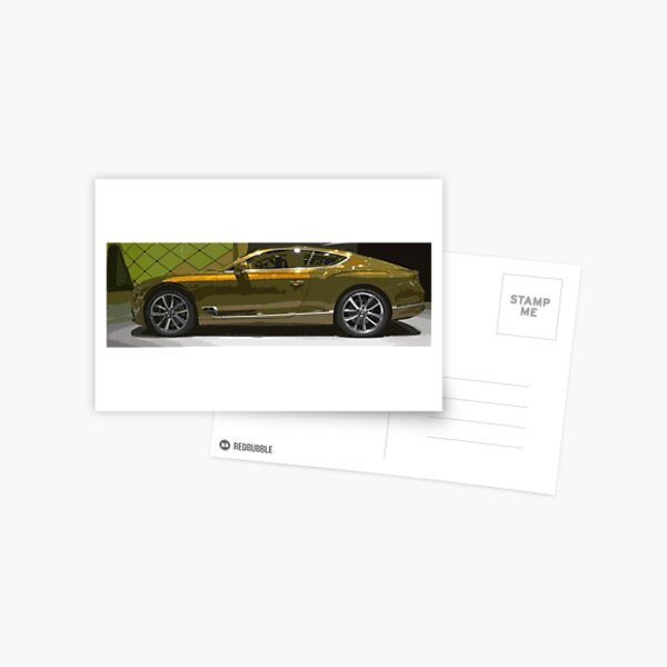 Bentley Continental GT Postcard