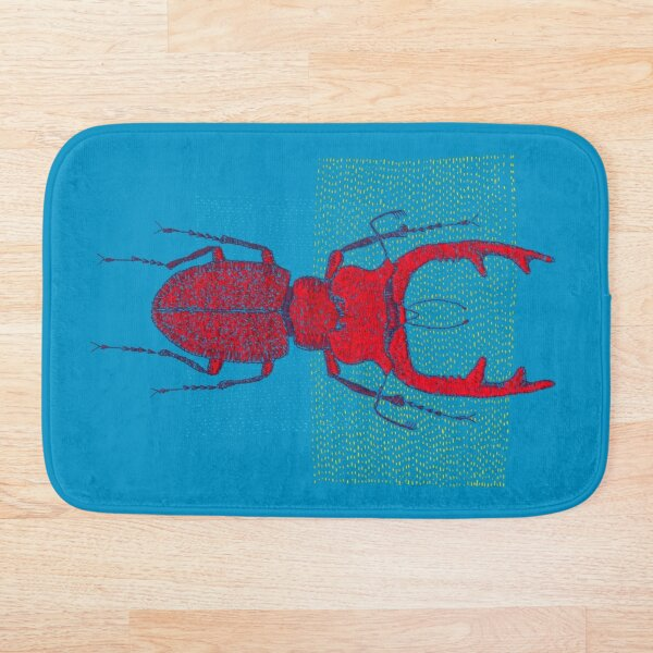 Stitches: Red stag Bath Mat