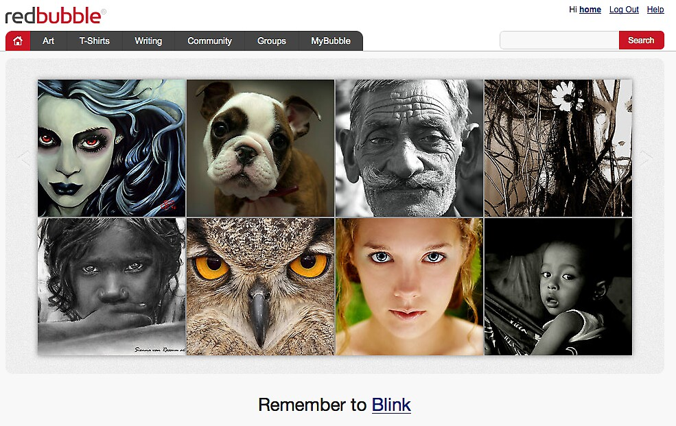 Remember to Blink - 7 September 2010 by The RedBubble Homepage