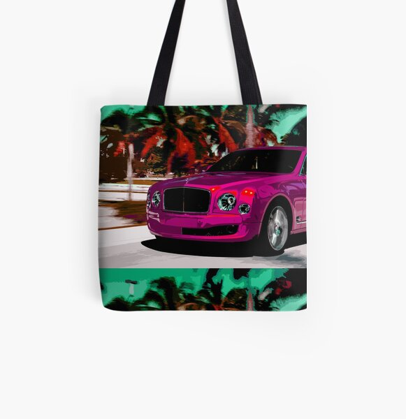 Bentley Mulsanne All Over Print Tote Bag