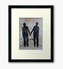 'Holding'  Framed Print