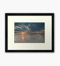 Setting Sun and Some Motion Framed Print