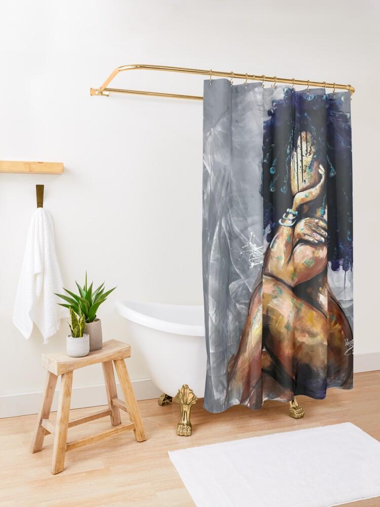 Alternate view of Naturally LVI Shower Curtain