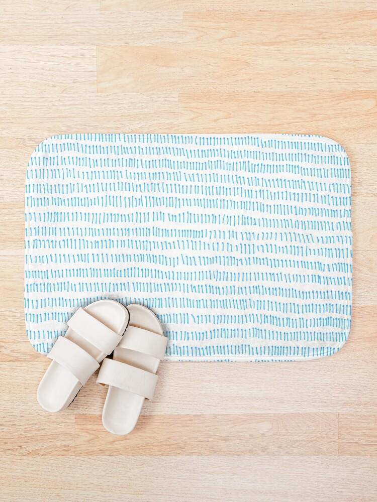 Alternate view of Blue grass - a handmade pattern Bath Mat