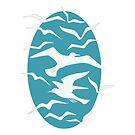 Teal Seagulls by LIMEZINNIASDES
