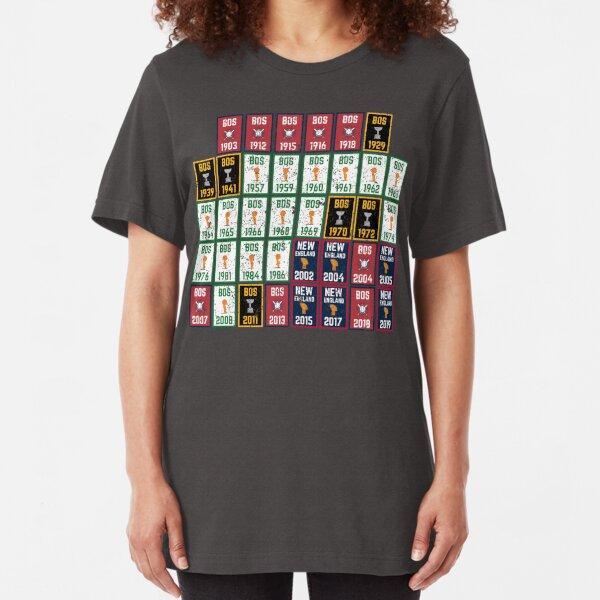 Fan of Fenway City Champions New England Boston Sports Championship Banner Title Slim Fit T-Shirt