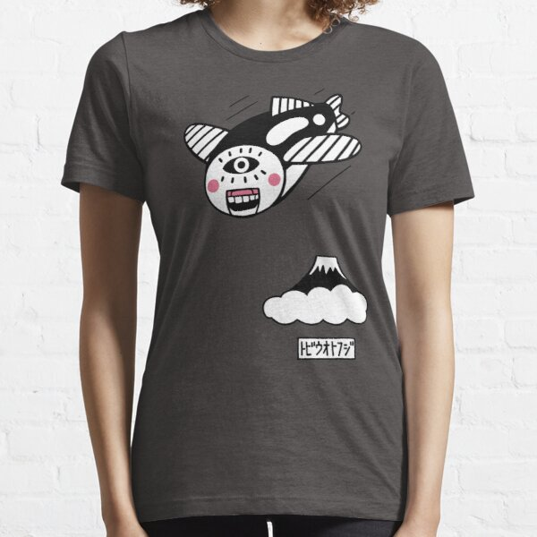 flying fish and Mt.Fuji (gray version) Essential T-Shirt