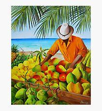Manuel the Fruit Vendor at the Beach Photographic Print