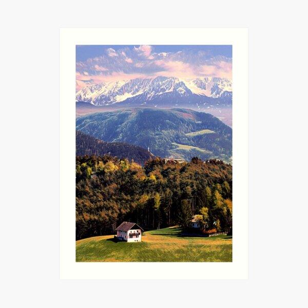 Hidden in the Alps  Art Print