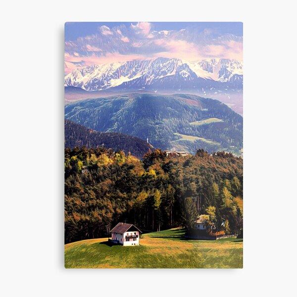 Hidden in the Alps  Metal Print