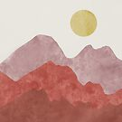 Mountain Desert Sunrise by BirdsongPrints
