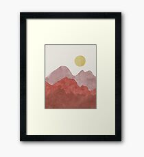 Mountain Desert Sunrise Framed Print