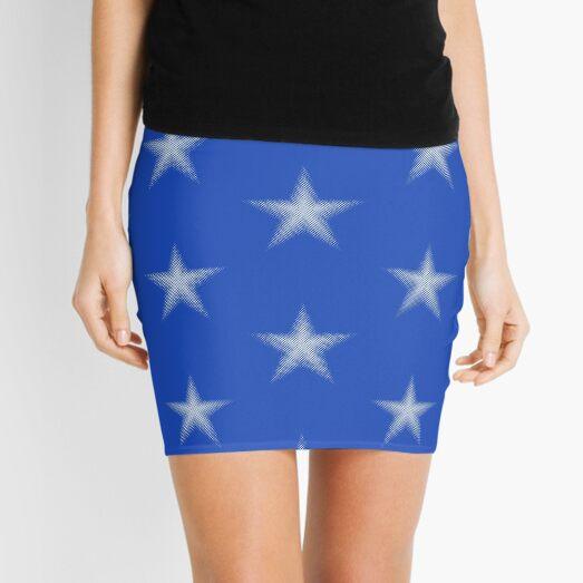 Halftone White Star - Star Spangled Mini Skirt