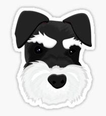 Schnauzer - Black and Silver Sticker
