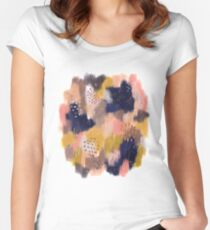 Vernal Abstract  Fitted Scoop T-Shirt