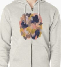 Vernal Abstract  Zipped Hoodie
