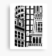 City Landscape Black and White Metal Print