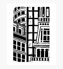City Landscape Black and White Photographic Print