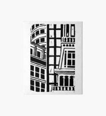 City Landscape Black and White Art Board Print