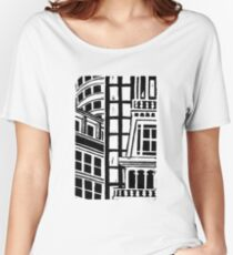 City Landscape Black and White Relaxed Fit T-Shirt