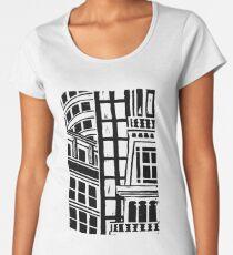City Landscape Black and White Premium Scoop T-Shirt