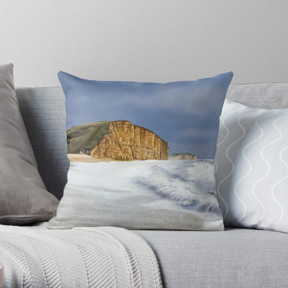 West Bay, Dorset Throw Pillow